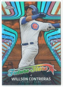 2017 Topps Chrome Future Stars Orange Refractors Willson Contreras