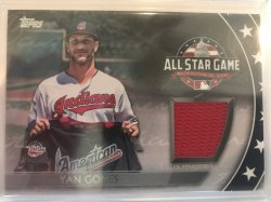 2018 Topps Update Red Jersey Yan Gomes