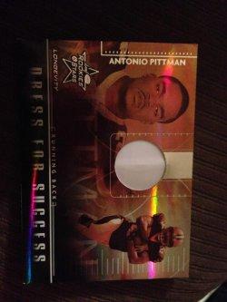 2007 Donruss Leaf rookies stars  Antonio Pittman helmet card