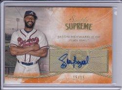 Jason Heyward 2014 Topps Supreme Simply Supreme Autographs Orange /15