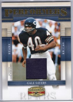 2007 Donruss Gridiron Gear Gale Sayers Performers Jersey