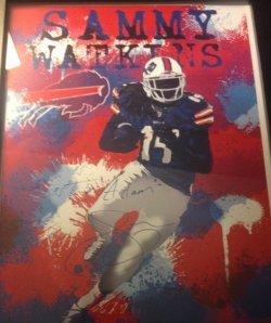Sammy Watkins Signed Print