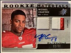 2009 Upper Deck SpX Rookie Materials Autographs #RMMC Michael Crabtree