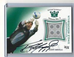 2020 Leaf Sportkings Tony Meola Jersey Autograph