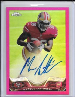 2013 Topps Chrome Pink Refractor Rookie Autograph - Marcus Lattimore