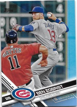 2017 Topps Fathers Day Blue Zobrist