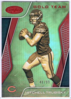 2017 Panini Certified Mitchell Trubisky Gold Team Red