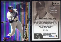 2000  Fleer Focus Focal Points Striking Frank Thomas