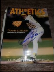2004  Athletics Yearbook Dennis Eckersley IP Autograph