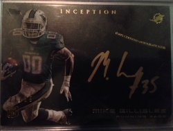 2013  Topps Inception - Rookie Autographs Gold Ink Mike Gillislee