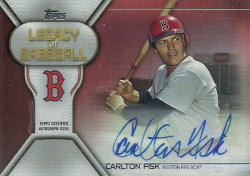 2019 Topps Legacy of Baseball Autographs Red Carlton Fisk