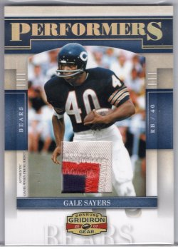 2007 Donruss Gridiron Gear Gale Sayers Performers Jersey Prime