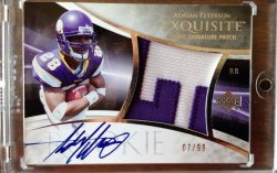 2007 Upper Deck Exquisite Adrian Peterson Rookie Auto Patch
