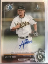 2017 Bowman Chrome Draft  Austin Beck