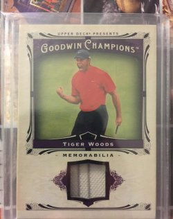 2013 Upper Deck Goodwin Memorabilia Tiger Woods