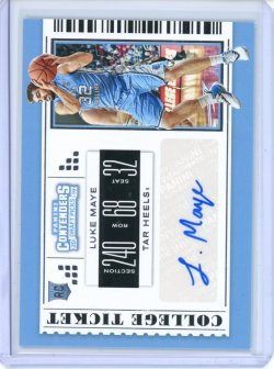 2019-20 Panini Contenders Draft Picks Luke Maye Auto