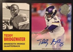 2015  Topps  Teddy Bridgewater 60th Anniversary Auto