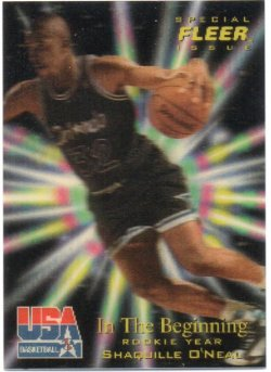 1996 Fleer USA ONeal, Shaquille - Heroes
