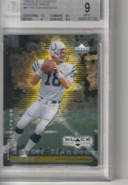 1998 Upper Deck Black Diamond Triple Peyton Manning
