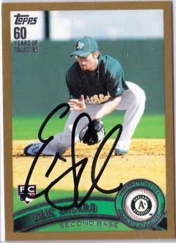 2011 Topps Gold Eric Sogard RC IP Auto