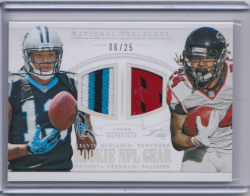 2014 Panini National Treasures Rookie NFL Gear Combo Prime w/Freeman Kelvin Benjamin