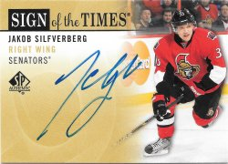2012-13 Upper Deck SP Authentic Sign of the Times Jakob Silfverberg