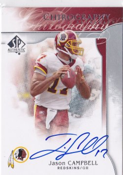 2009 Jason Campbell SP Authentic Chirography On-Card Auto     Redskins A5706