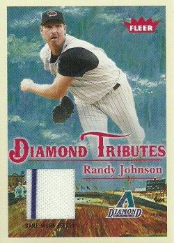 2005 Fleer Tradition Diamond Tributes Game Used Randy Johnson