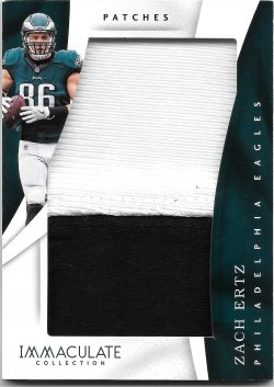 2017 Panini Immaculate Collection Patches Zach Ertz