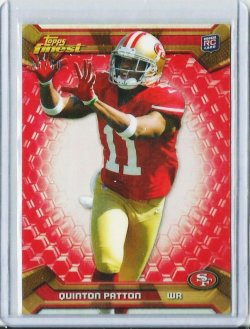 2013 Topps Finest Red Refractor Quinton Patton