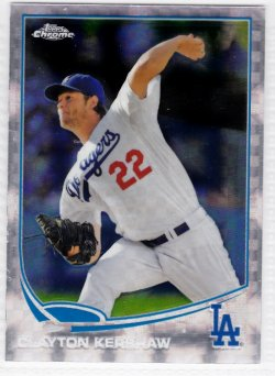 2013 Topps Chrome Xfractor  Clayton Kershaw