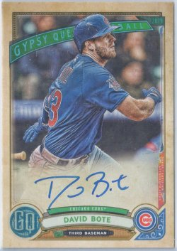 2019 Topps Gypsy Queen Autographs David Bote