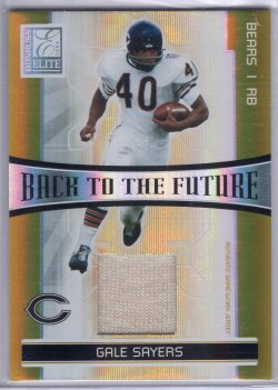2006 Donruss Elite Gale Sayers Back To The Future Dual Jerseys