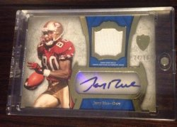2011  Topps Supreme Jerry Rice Auto Relic