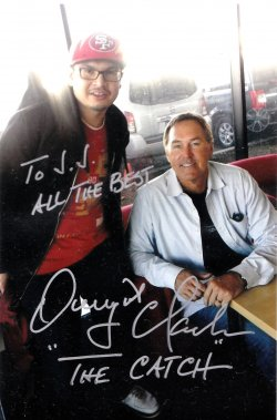 Dwight Clark Signed IP 4x6 Photo
