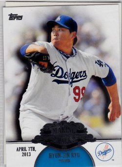 2013 Topps Making Their Mark Hyun-Jin Ryu
