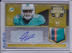 Jarvis Landry 2014 Totally Certified Rookie Autograph Jerseys Prime Platinum Gold /25
