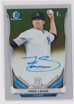 2014 Fred Lewis Bowman Chrome  On-Card Auto RC   Yankees B1772