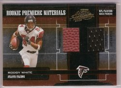 2005 Playoff Absolute Memorabilia Rookie Premiere Materials Roddy White
