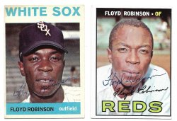 1964 & 19 Topps  TTM Floyd Robinson 10/19/21