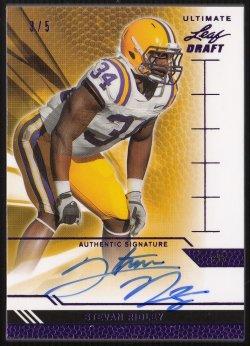 2011 Leaf Ultimate Draft Purple Stevan Ridley