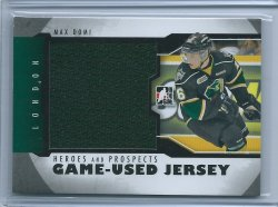 2013  ITG Hero & Prospect Max Domi Game-Used Jersey