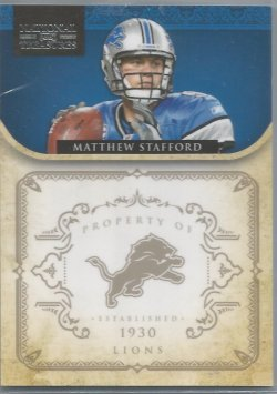2011 Panini Playoff National Treasures Matthew Stafford