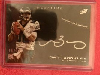 2013 Topps Inception Matt Barkley Silver Signings (double-signed)