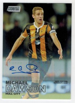 2016-17 Topps Stadium Club EPL Autographs Michael Dawson