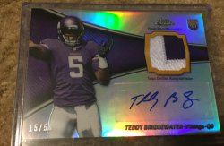 2014 Topps Chrome ️️Teddy Bridgewater Auto Patch