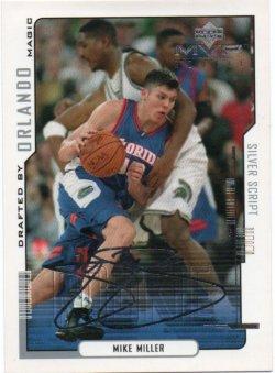2000-01 Upper Deck MVP Miller, Mike - Silver Script