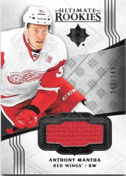 2016-17 Upper Deck Ultimate Collection Rookie Jerseys Silver Anthony Mantha