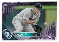 2016 Topps Topps Opening Day Toys R Us Purple Foil Kyle Seager