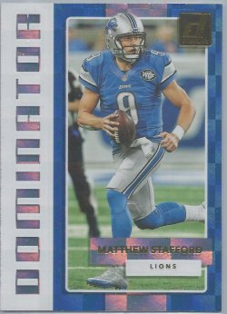 2017 Donruss Dominator Matthew Stafford